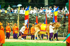 Cambodia The Royal Ploughing Ceremony siem reap angkor bayon presh vihear. The Royal Ploughing Ceremony is one of the mostnimportant annual royal traditional Stock Photo