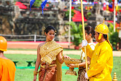 Cambodia The Royal Ploughing Ceremony siem reap angkor bayon presh vihear. The Royal Ploughing Ceremony is one of the mostnimportant annual royal traditional Stock Photography