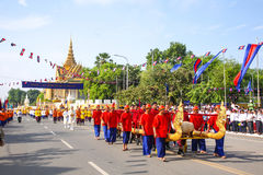 Cambodia The Royal Ploughing Ceremony siem reap angkor bayon presh vihear. The Royal Ploughing Ceremony is one of the mostnimportant annual royal traditional Stock Images