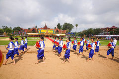Cambodia The Royal Ploughing Ceremony siem reap angkor bayon presh vihear. The Royal Ploughing Ceremony is one of the mostnimportant annual royal traditional Royalty Free Stock Photo