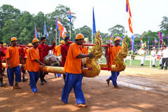 Cambodia The Royal Ploughing Ceremony siem reap angkor bayon presh vihear. T he Royal Ploughing Ceremony is one of the mostnimportant annual royal traditional Royalty Free Stock Photos