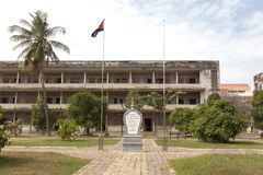 Cambodia - S-21 prison museum. Tuol Svay Pray High School sits on a dusty road on the outskirts of Phnom Penh, Cambodia. In 1976, the Khmer Rouge renamed the Royalty Free Stock Image
