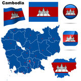 Cambodia set. Stock Photo