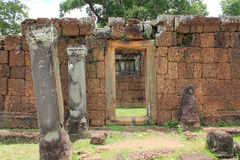 Cambodia Siem Reap ancient temple ruins Royalty Free Stock Photo
