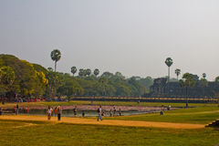 Cambodia, Siem Reap, Angkor Wat. January 22nd, 2014 Stock Photos