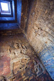 Cambodia. Siem Reap. Carved stone patterns on temple walls Banteay Srey Xth Century, inside view.  Royalty Free Stock Photography