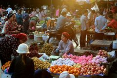 CAMBODIA SIEM REAP MORNING MARKET royalty free stock photography