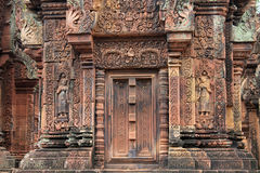 Cambodia Siem Reap temple stone carving Royalty Free Stock Photography