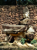 Cambodia, Siem Reap - town square statue Stock Images