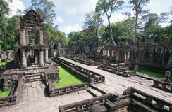 cambodia skördar khan preah siemtempelet Royaltyfri Fotografi