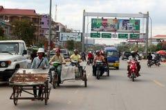 cambodia skördar siem Arkivfoto