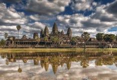 cambodia skördar siem Angkor Wat tempel Royaltyfri Fotografi