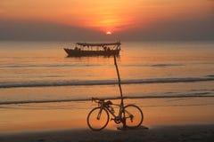 cambodia Spiaggia di Otres Città di Sihanoukville Fotografia Stock Libera da Diritti
