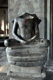 Cambodia - Statue seated in lotus position from Angkor Wat temple Stock Photo