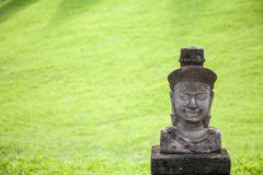 Cambodia stone sculpture / Cambodia Ancient sculpture of man Royalty Free Stock Image