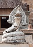 Cambodia style of snake statue Royalty Free Stock Photos