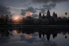 Cambodia Sunrise - Angkor Wat royalty free stock images