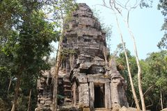 Cambodia. Ta Krobay temple. Oudor Meanchey Province. Siem Reap City. Ta Krobay temple was built in the 9th century under the rule of Yasovarman 1. Between 2008 Royalty Free Stock Photo