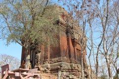 cambodia Tempio di Phnom Da Città di Angkor Borei Provincia di Keo di tum Fotografia Stock Libera da Diritti
