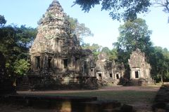cambodia Tempio di Thommanon Provincia di Siem Reap Città di Siem Reap Immagine Stock