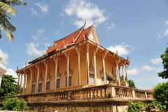 Cambodia temple. An old temple in Cambodia Royalty Free Stock Images