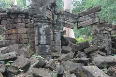 cambodia Temple de Banteay Chhmar Province de Banteay Meanchey Sisophon Sity Photographie stock