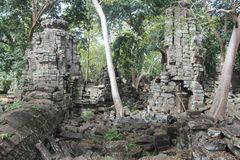 cambodia Temple de Banteay Chhmar Province de Banteay Meanchey Sisophon Sity Image stock