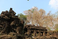 cambodia Temple de Banteay Chhmar Province de Banteay Meanchey Sisophon Sity Photos stock