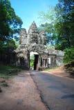Cambodia  temple faces. Cambodia bluebird day la prong temple Stock Photography