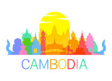 Cambodia Travel Landmarks Royalty Free Stock Image