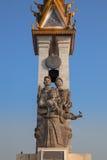 Cambodia-Vietnam Friendship Monument, Phnom Penh, Cambodia. Royalty Free Stock Photo