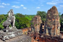 Cambodia - View of Benteay Samre temple Royalty Free Stock Images