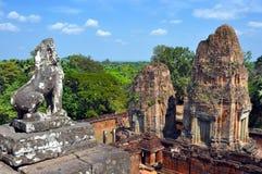 Cambodia - View of Benteay Samre temple. Angkor Wat, Siem Reap area (Cambodia) - View of Benteay Samre temple, dedicated to the hindu god Shiva Royalty Free Stock Images