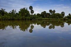 cambodia widok nadrzeczny południowy Fotografia Royalty Free