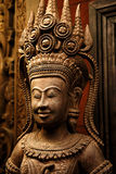 Cambodia wood carving art Royalty Free Stock Images