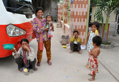 Cambodian Beggars Stock Images
