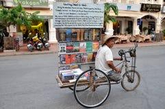 Cambodian Book Salesman Stock Images