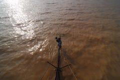 Cambodian boy sailor Royalty Free Stock Photo