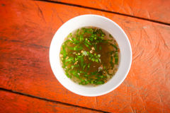 Cambodian broth with herbs Stock Photo