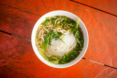 Cambodian broth with noodles Stock Photos