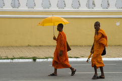 Cambodian buddhist monks Stock Photography