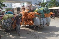 Cambodian Carts at Border Royalty Free Stock Photos