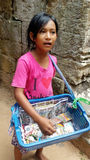 Cambodian Child Selling Souvenirs Stock Images