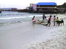 Cambodian children stock photo