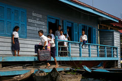 Cambodian children at school stock photography