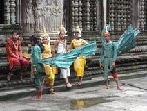 Cambodian dancers stock photos