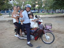 Cambodian family. Royalty Free Stock Image