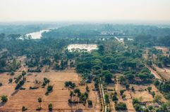 Cambodian fields from above. Cambodian fields from aerial view stock image