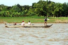 Cambodian fishermen Royalty Free Stock Photos