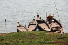 Cambodian Fishing Boat Royalty Free Stock Photos